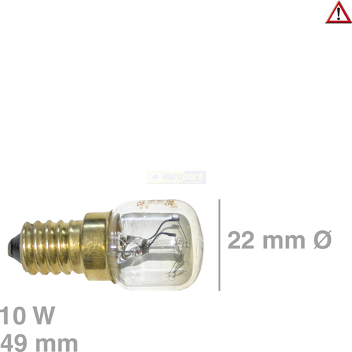 lampe e14 10watt 300grad backofenlampe k hlschranklampe von intelectra trockner. Black Bedroom Furniture Sets. Home Design Ideas