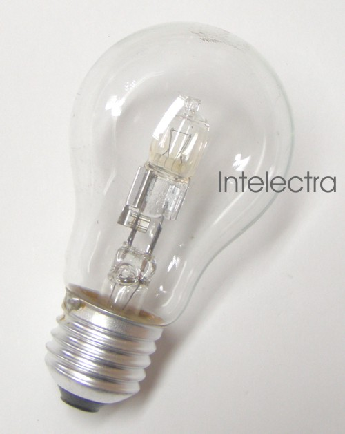gl hbirne lampe halogen e27 18 watt von intelectra einbaustrahler halogenlampen. Black Bedroom Furniture Sets. Home Design Ideas