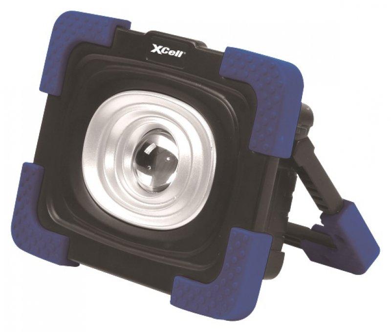 led strahler 10 watt von xcell wiederaufladbarer arbeitsscheinwerfer von intelectra. Black Bedroom Furniture Sets. Home Design Ideas