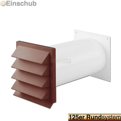 mauerdurchf hrung 125 mm von intelectra abluft zuluft technik. Black Bedroom Furniture Sets. Home Design Ideas